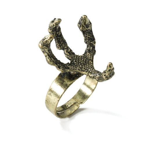 Medieval Fantasy Claw Dragon Ring Middle Dark Ages Fancy Dress